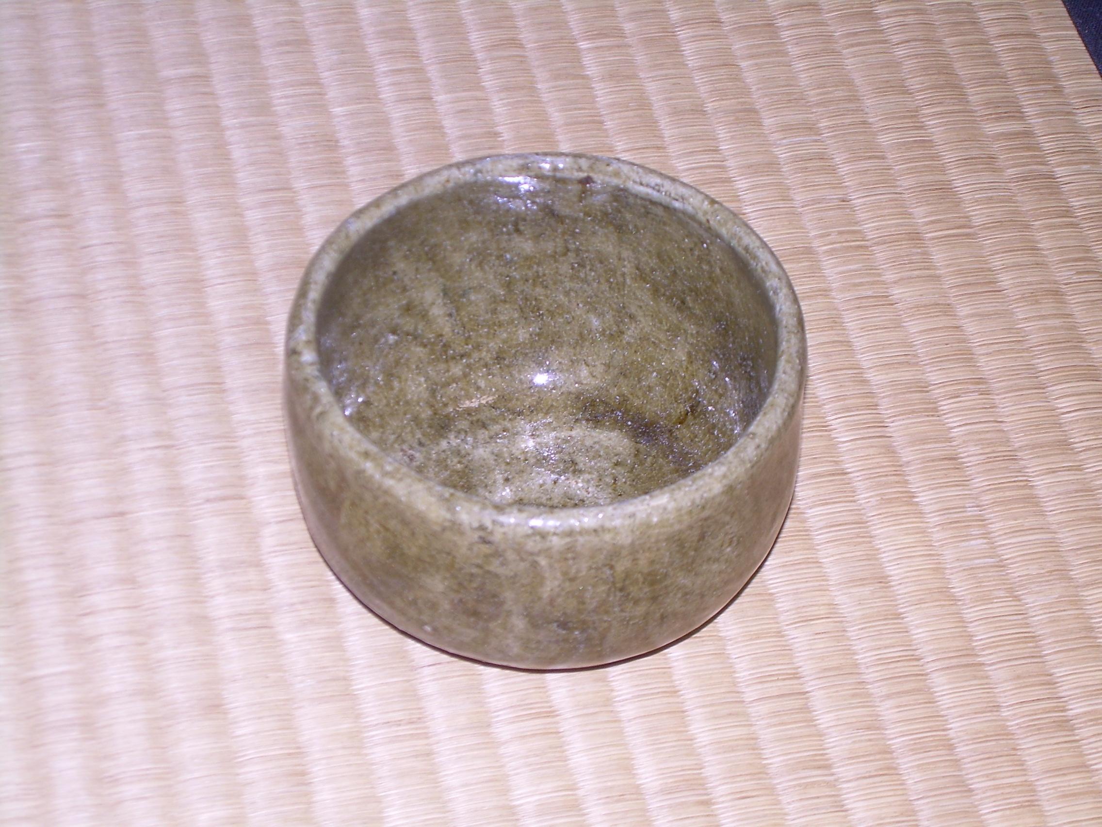 横井さんの茶器、南方庵で