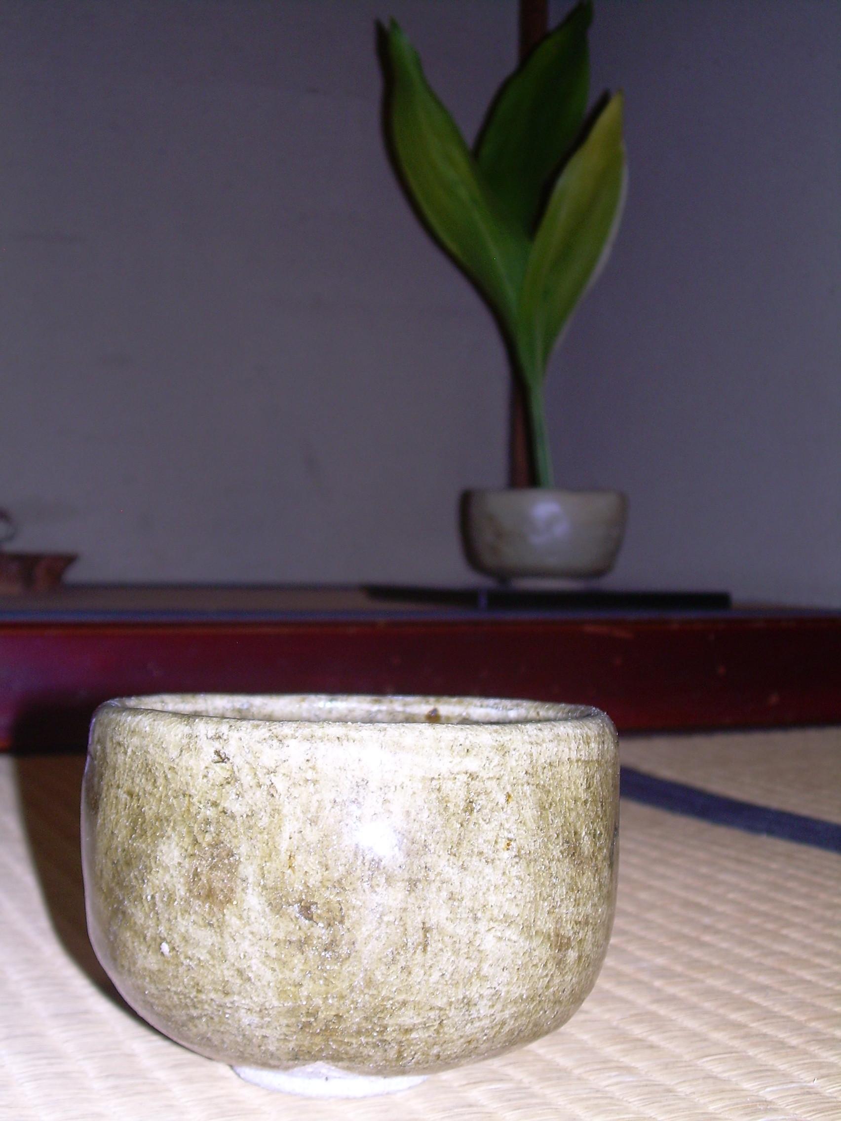 横井さんの茶器、南方庵床の間
